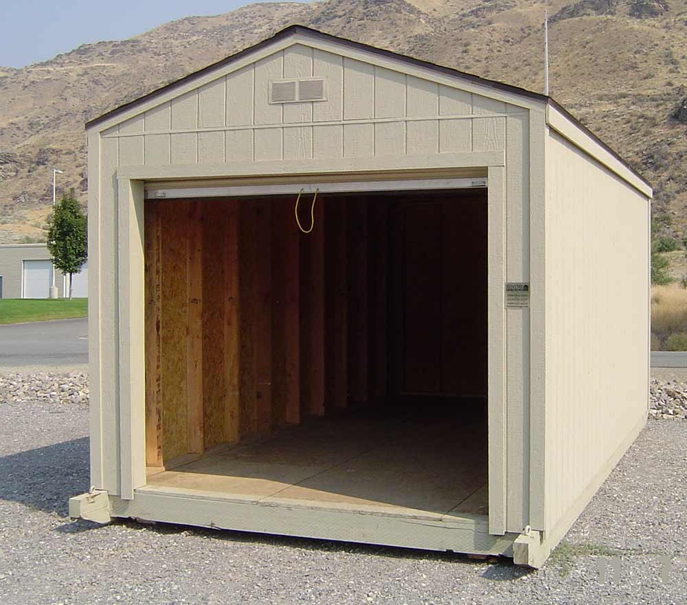 Rent on 16x20 Shed With Garage Door